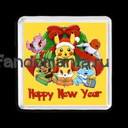 "Магнит ""Покемоны. Happy New Year"" - фото 6165"