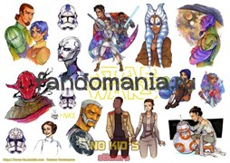 Набор стикеров Star Wars A4