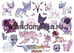 Набор стикеров Cats A4