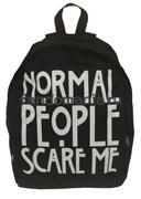 """Рюкзак """"Normal people scare me""""  (Американская история ужасов)"""