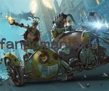 """Коврик для мыши """"Jankrat и Roadhog"""" (Overwatch)"""