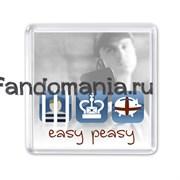"Магнит ""Easy peasy"" (Шерлок)"