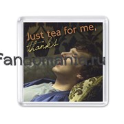 "Магнит ""Just tea for me"" (Шерлок)"