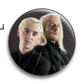 """Значок """"Малфои"""" (Гарри Поттер)"""