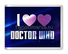 "Обложка на студенческий билет ""I love Doctor Who"" (Доктор Кто)"
