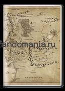 """Обложка на паспорт """"Карта Средиземья"""" (Хоббит, Властелин колец)"""
