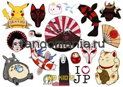 Набор стикеров Japan A4