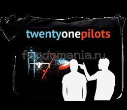 """Сумка с клапаном большая """"Twenty One Pilots"""" - фото 12493"""