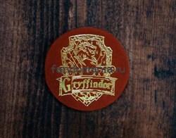 "Кожаный значок ""Герб Гриффиндора"" (Гарри Поттер) - фото 15784"