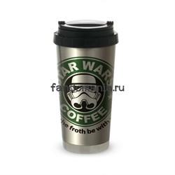 "Термокружка стальная ""Star Wars coffee"" (Звездные войны) - фото 15861"