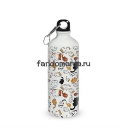 "Бутылка спортивная ""Котики"" (Neko Atsume) - фото 16042"