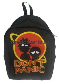 """Рюкзак """"Don't panic"""" (Рик и Морти) - фото 16544"""