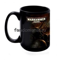 "Большая черная кружка ""Вархаммер 40000"" (Warhammer 40K) - фото 17047"