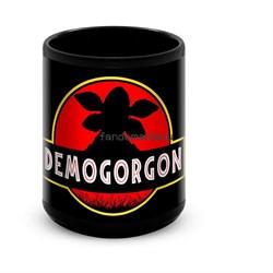 """Большая черная кружка """"Демогоргон""""  (Очень странные дела) - фото 17188"""