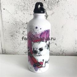 Ёжик на скейте | Бутылка для воды - фото 24301