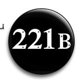 """Значок """"221 В""""-1 (Шерлок) - фото 4002"""
