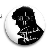 """Значок """"I believe..."""" (Шерлок) - фото 4005"""