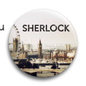 "Значок ""Сериал Шерлок"" - фото 4037"