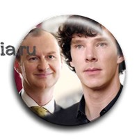 "Значок ""Шерлок и Майкрофт"" - фото 4042"
