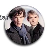 """Значок """"Шерлок и Джон"""" - фото 4044"""
