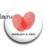 """Значок """"Шерлок и Джон"""" - фото 4046"""