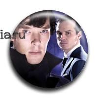 """Значок  """"Шерлок и Джим"""" - фото 4052"""