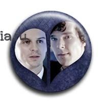 """Значок """"Шерлок и Джим""""  - фото 4053"""