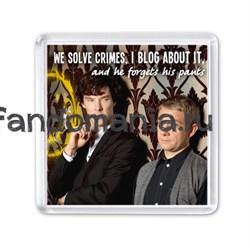 """Магнит """"We solve crimes..."""" (Шерлок) - фото 4244"""