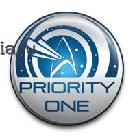 """Значок """"Priotiy One"""" (Стар Трек) - фото 5139"""