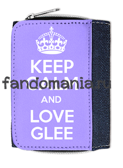 "Кошелек ""Keep calm and love glee"" - фото 5282"