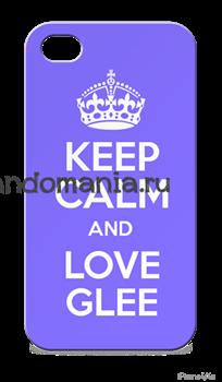 "Чехол для мобильного телефона ""Keep calm and love Glee"" - фото 5304"