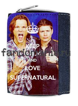 "Кошелек ""Keep calm and love Supernatural"" (Сверхъестественное) - фото 5460"