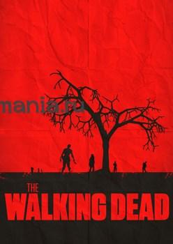 """Постер """"Walking Dead"""" красный - фото 5567"""