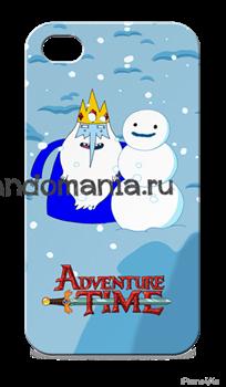 """Чехол для мобильного телефона """"Ледяной король"""" (Время приключений) - фото 5770"""