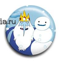 """Значок """"Ледяной король"""" (Время приключений) - фото 5815"""