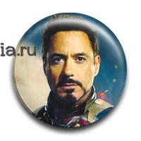 """Значок """"Тони Старк"""" (Железный человек) - фото 5841"""