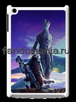 """Чехол для iPad """"Енот и Грут"""" (Стражи галактики) - фото 5886"""