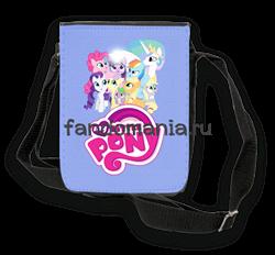 """Сумка  с клапаном """"My Little Pony"""" - фото 5930"""