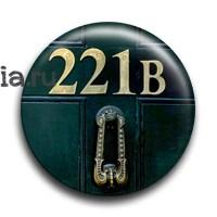 "Значок ""221B"" (Шерлок) - фото 6084"