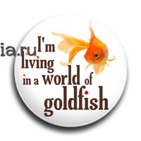 "Значок ""World of goldfish"" (Шерлок) - фото 6091"