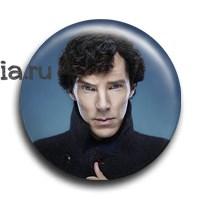 """Значок """"Шерлок в пальто"""" - фото 6102"""