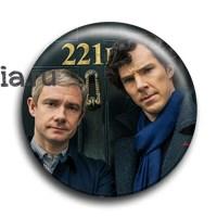"Значок ""Шерлок Холмс и доктор Уотсон"" - фото 6107"