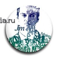 "Значок ""Типографика. Джим"" (Шерлок) - фото 6109"