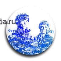 "Значок ""Типографика. Шерлок и Джон"" (Шерлок) - фото 6110"