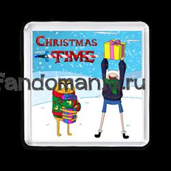 """Магнит """"Christmas Time"""" (Время приключений) - фото 6167"""