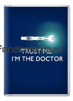 """Обложка на паспорт """"Trust me..."""" (Доктор Кто) - фото 6222"""