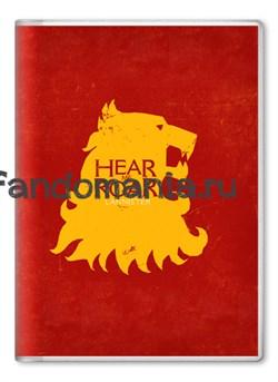 "Обложка на паспорт ""Герб Ланнистеров"" (Игра престолов) - фото 6244"
