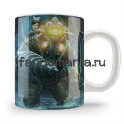 """Кружка """"Биошок. Большой папочка"""" (Bioshock) - фото 6541"""