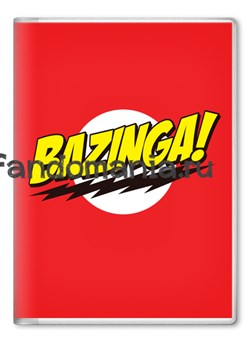 "Обложка на паспорт ""Bazinga"" (Теория большого взрыва) - фото 6641"