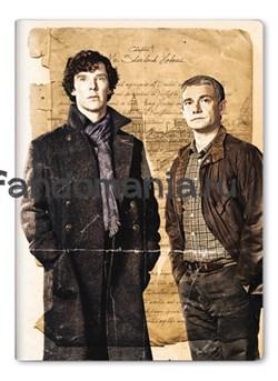 """Обложка на паспорт виниловая """"Шерлок и Джон"""" - фото 6695"""